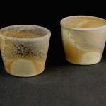 whisky cups -porcelain, natural ash