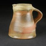 small jug, stoneware, celadon ash glaze and natural ash